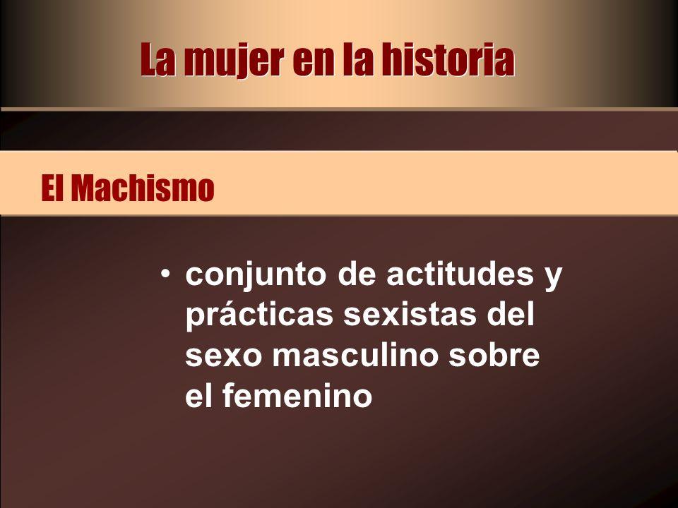 La mujer en la historia El Machismo