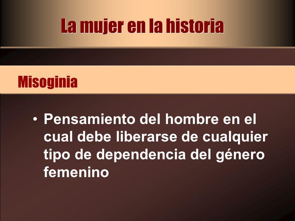 La mujer en la historia Misoginia