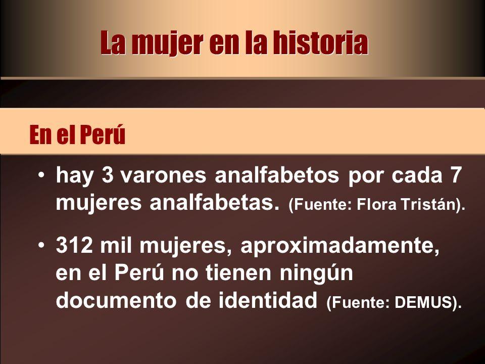La mujer en la historia En el Perú