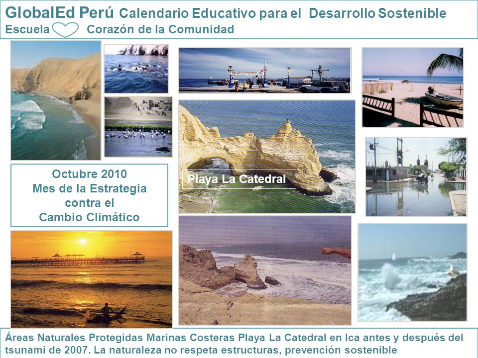 GlobalEd Perú Calendario Educativo para el Desarrollo Sostenible