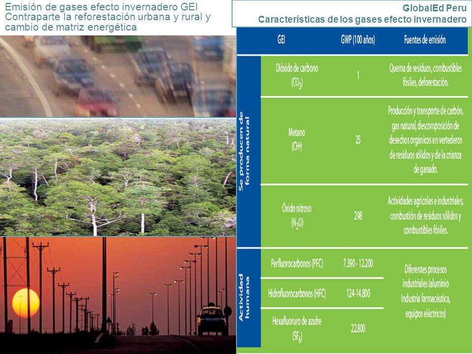 Emisión de gases efecto invernadero GEI