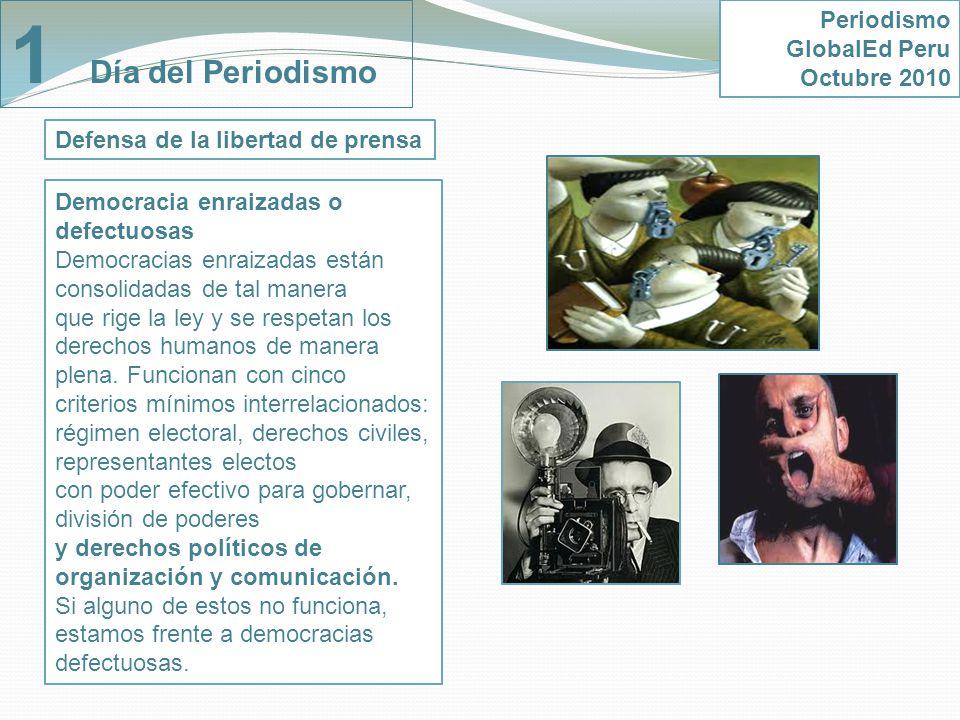 1 Día del Periodismo Periodismo GlobalEd Peru Octubre 2010