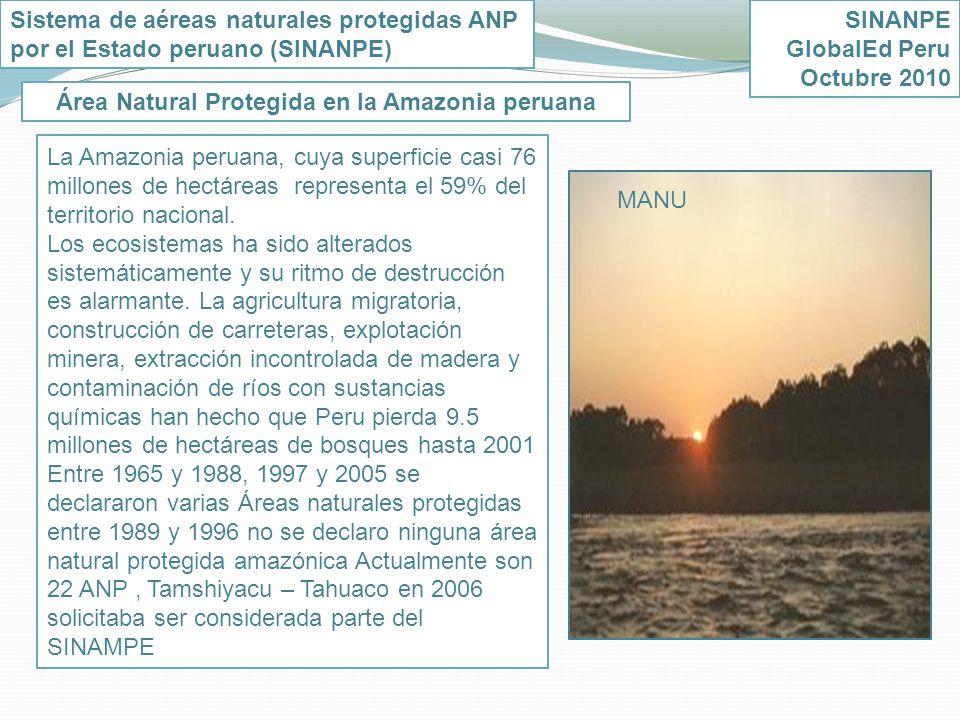 Área Natural Protegida en la Amazonia peruana