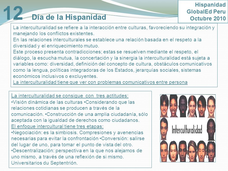 12 Día de la Hispanidad Hispanidad GlobalEd Peru Octubre 2010