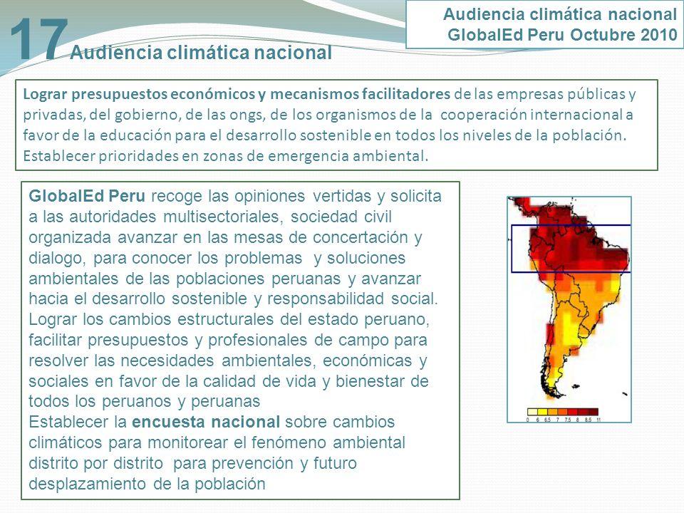 17Audiencia climática nacional