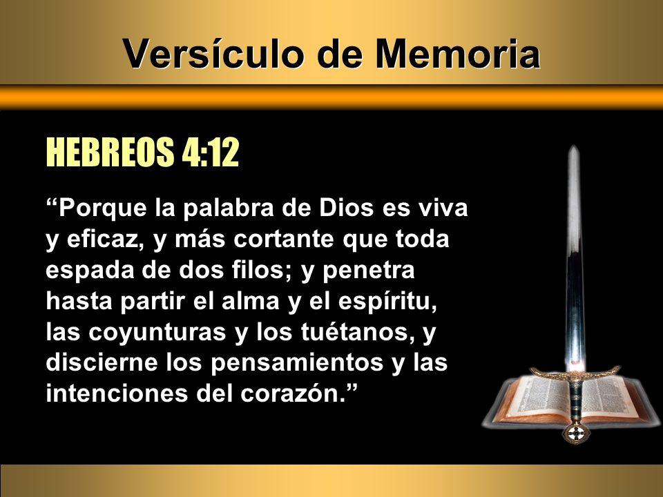 Versículo de Memoria HEBREOS 4:12