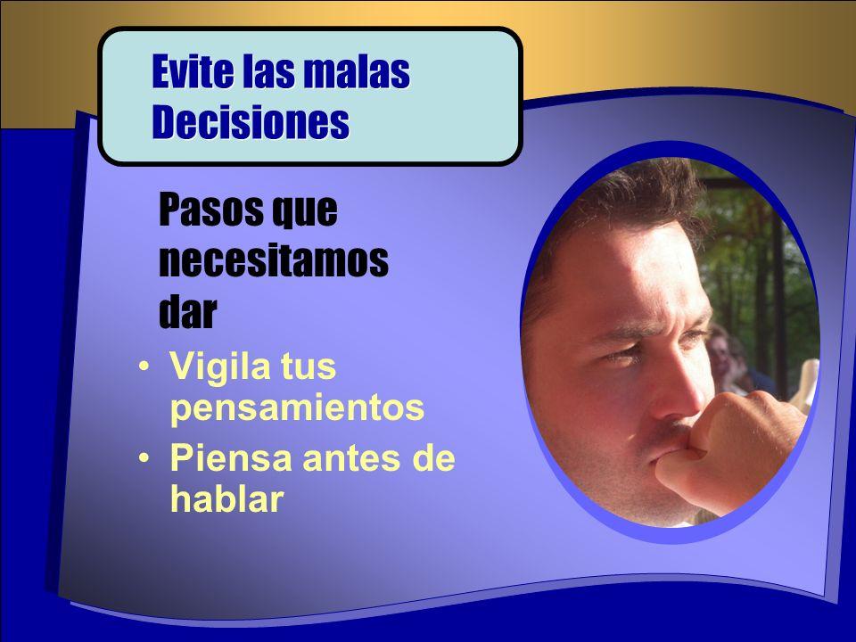 Evite las malas Decisiones