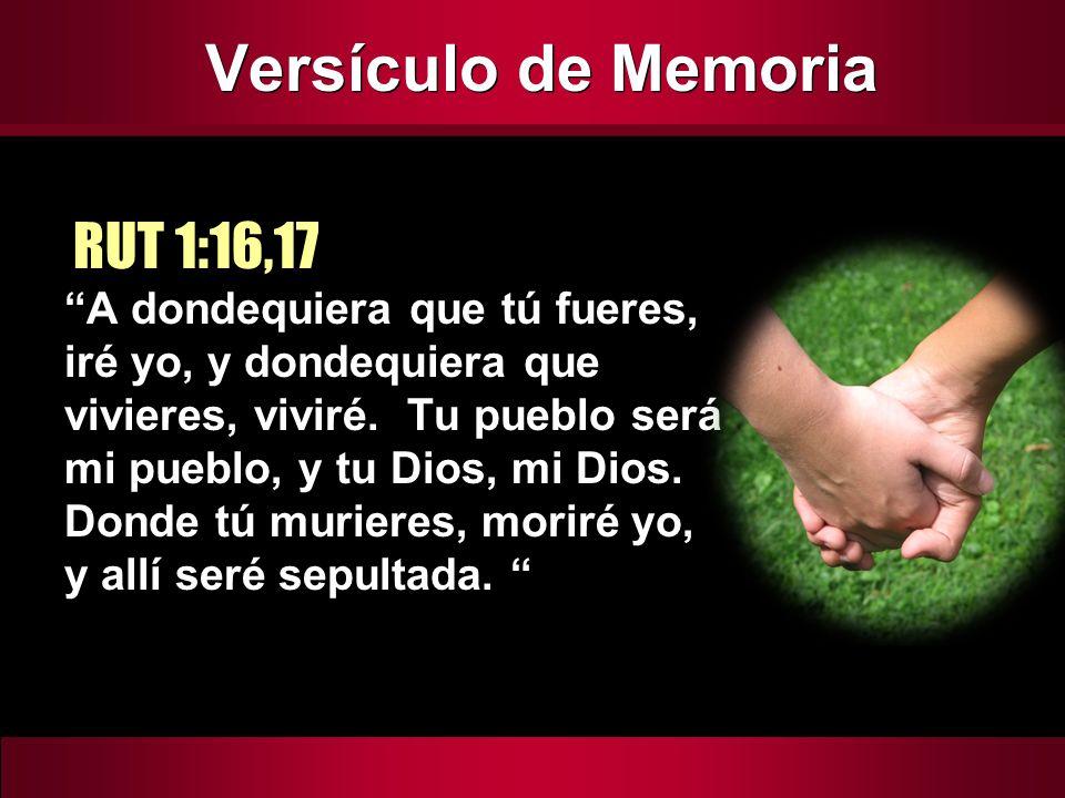 Versículo de Memoria RUT 1:16,17