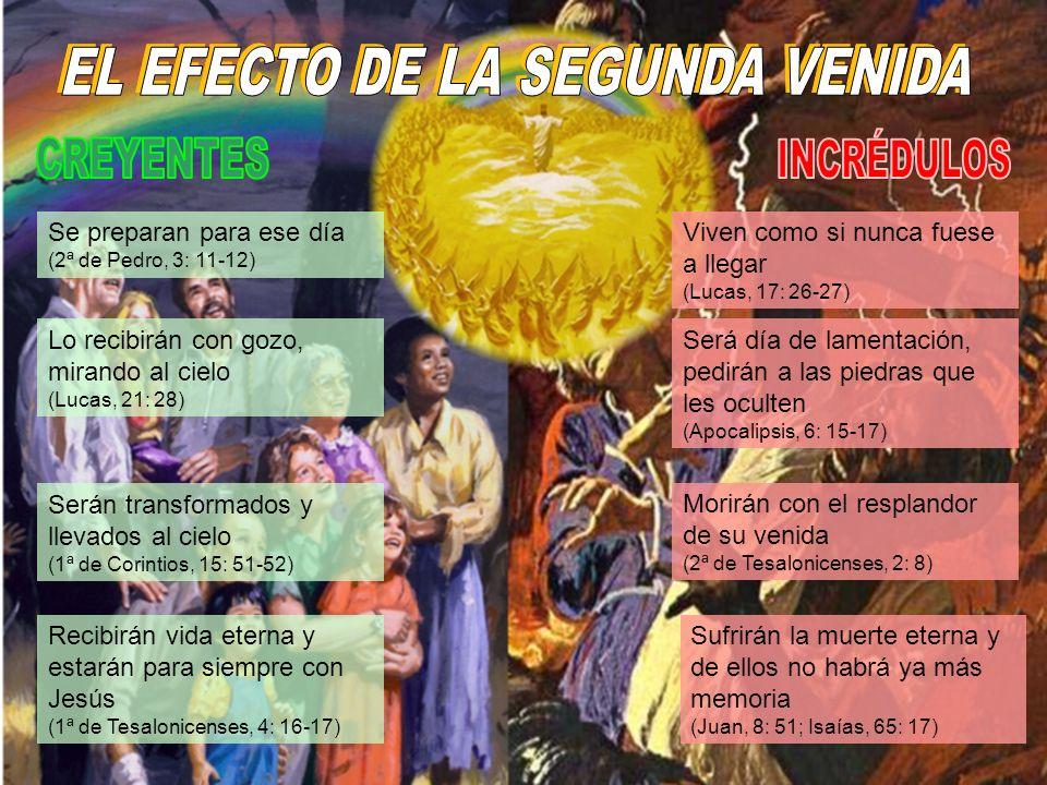 EL EFECTO DE LA SEGUNDA VENIDA