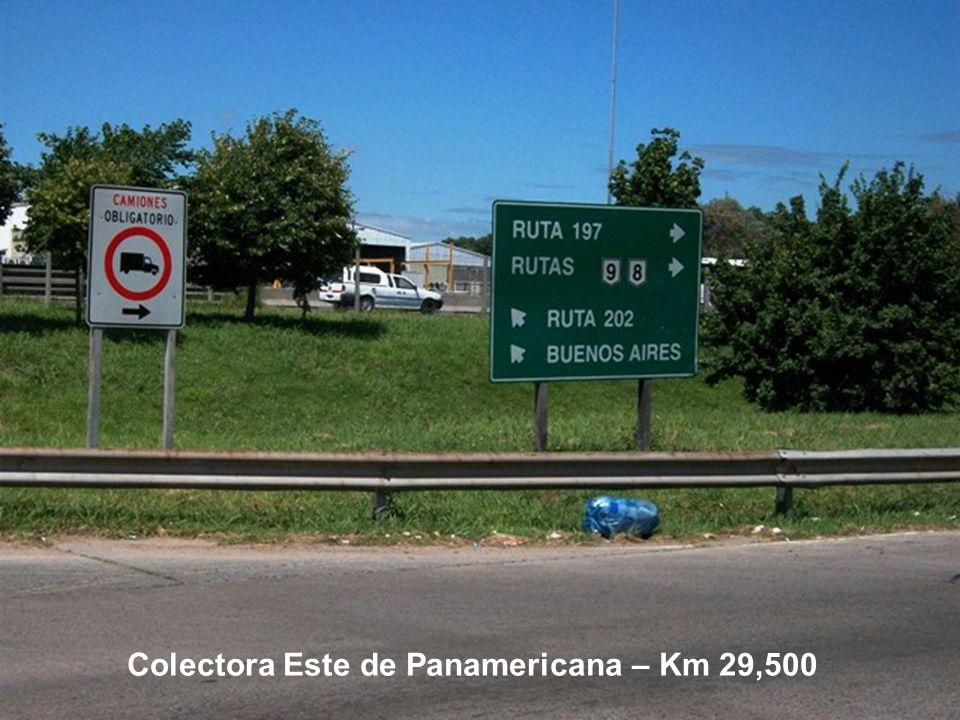 Colectora Este de Panamericana – Km 29,500