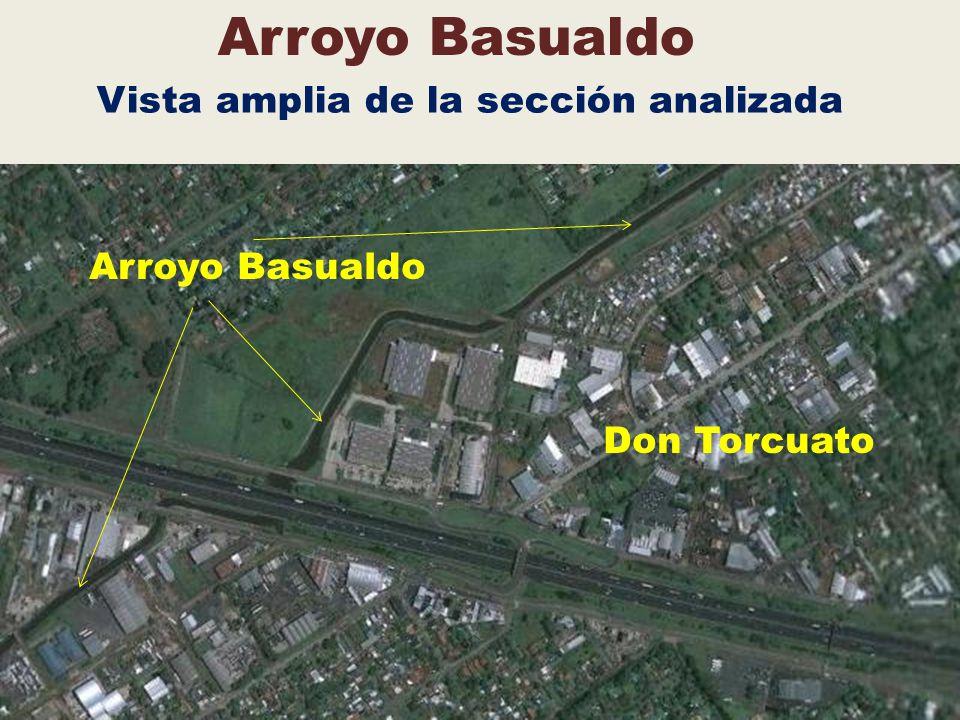 Arroyo Basualdo Vista amplia de la sección analizada Arroyo Basualdo