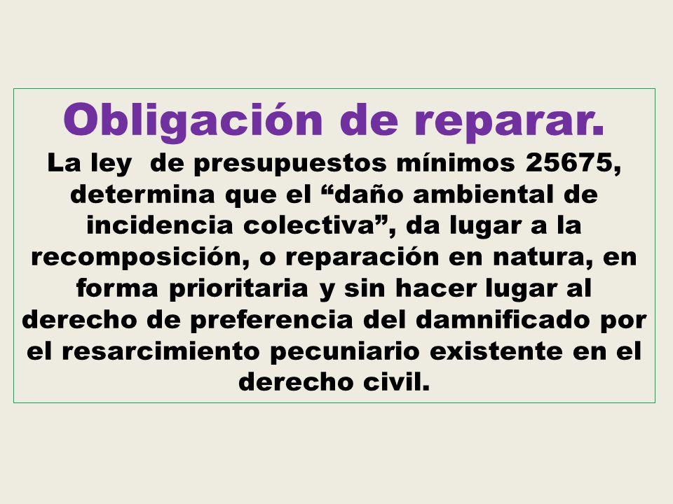 Obligación de reparar.