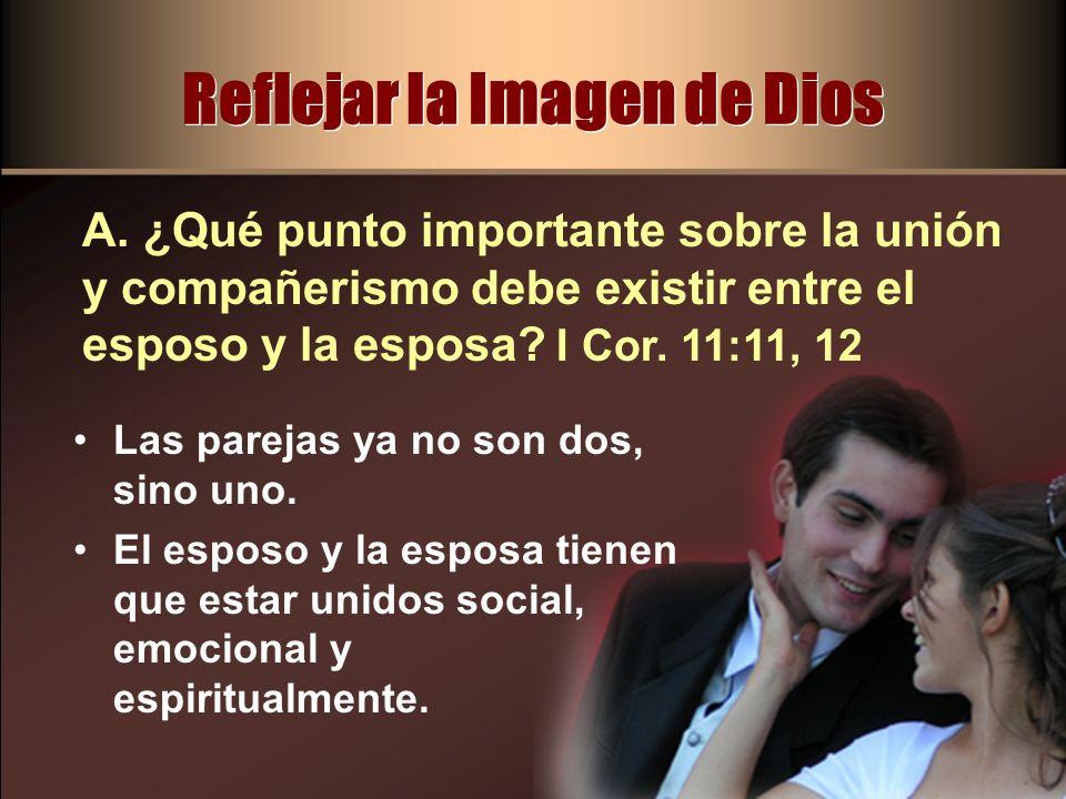 Reflejar la Imagen de Dios