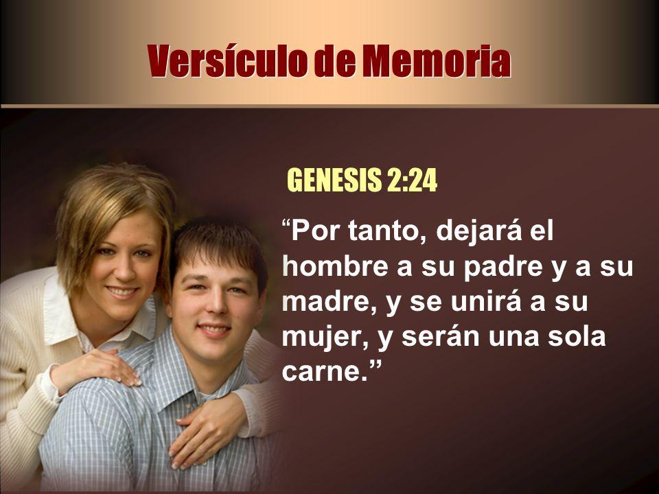 Versículo de Memoria GENESIS 2:24