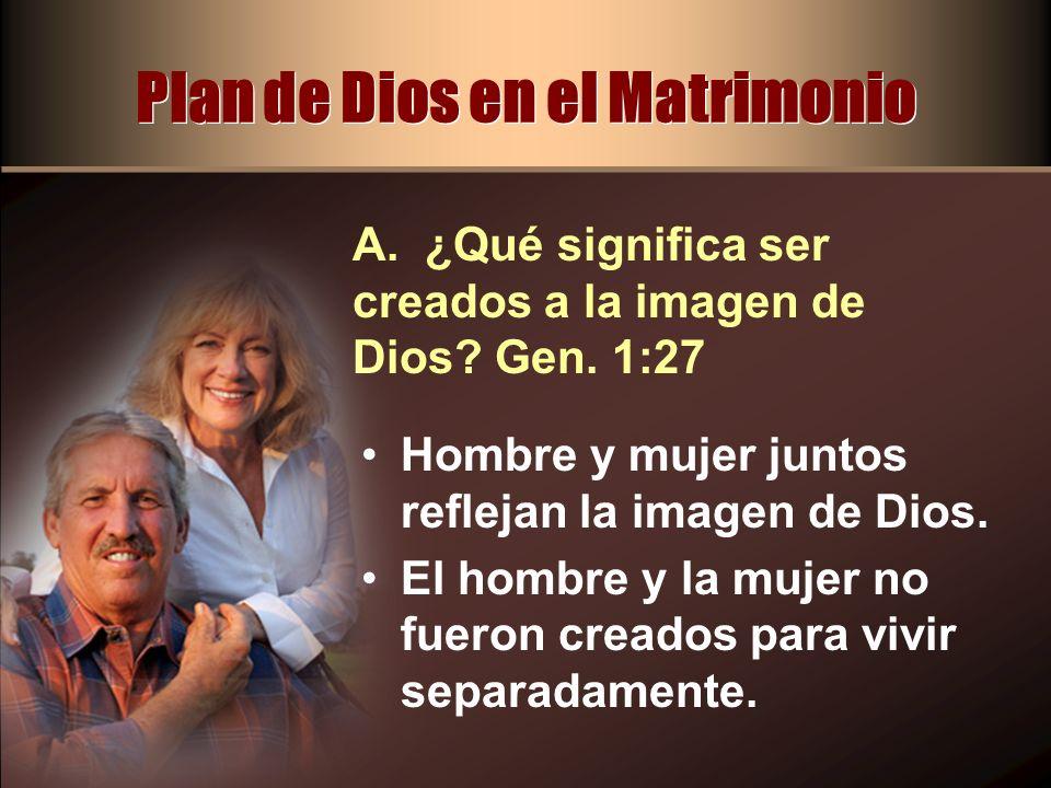 Plan de Dios en el Matrimonio