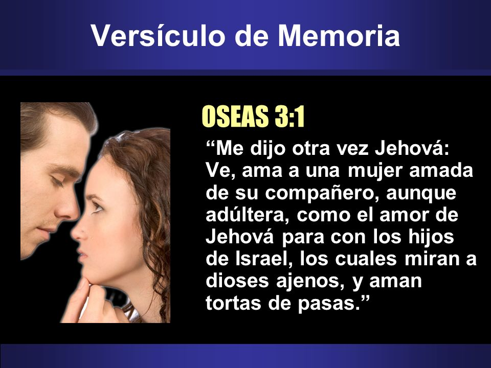 Versículo de Memoria OSEAS 3:1