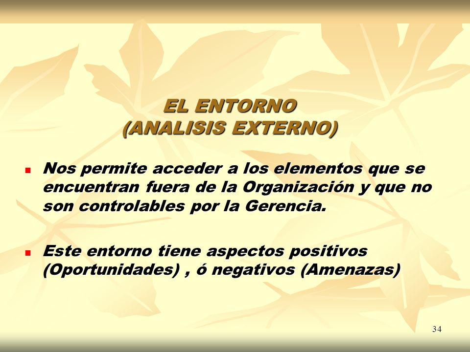 EL ENTORNO (ANALISIS EXTERNO)