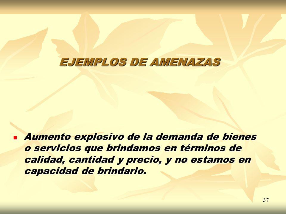 EJEMPLOS DE AMENAZAS