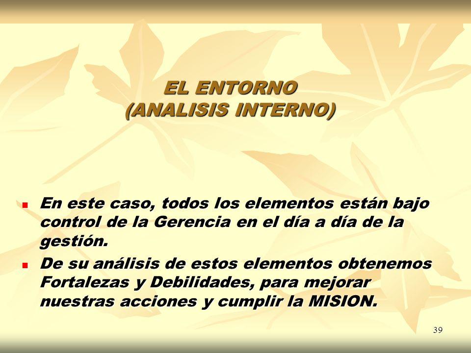 EL ENTORNO (ANALISIS INTERNO)
