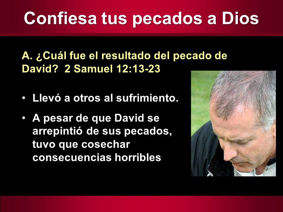 Confiesa tus pecados a Dios