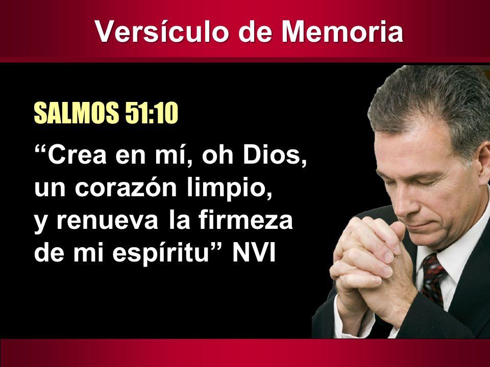 Versículo de Memoria SALMOS 51:10