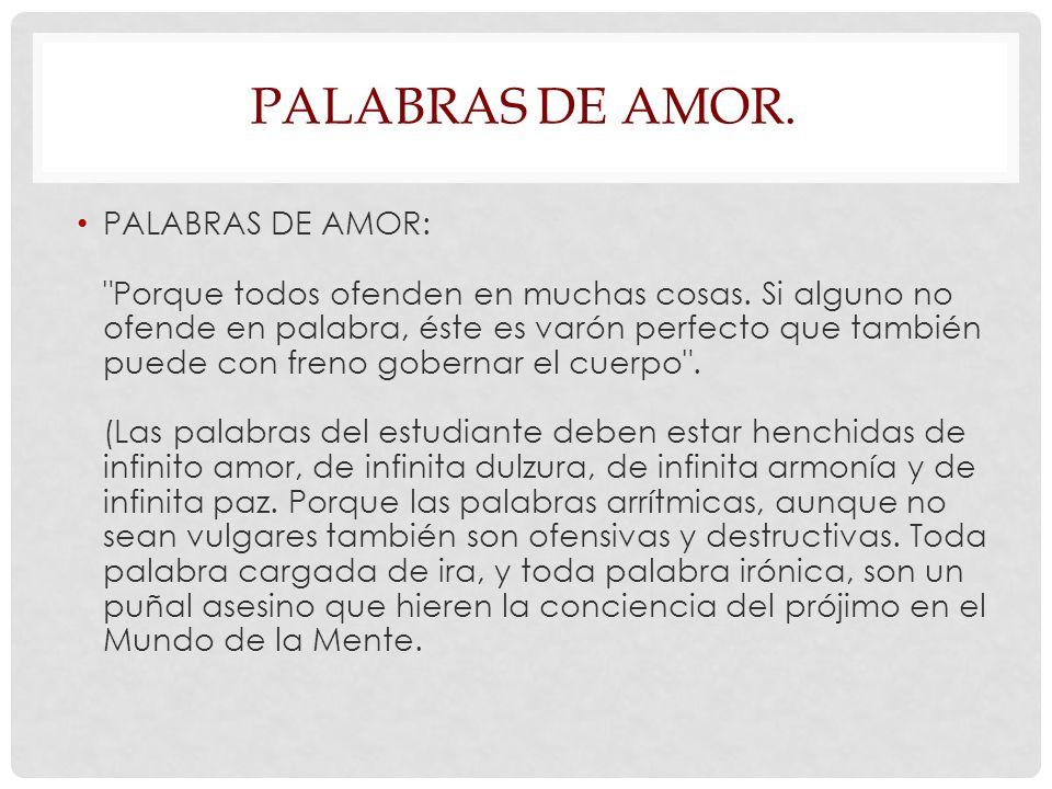PALABRAS DE AMOR.
