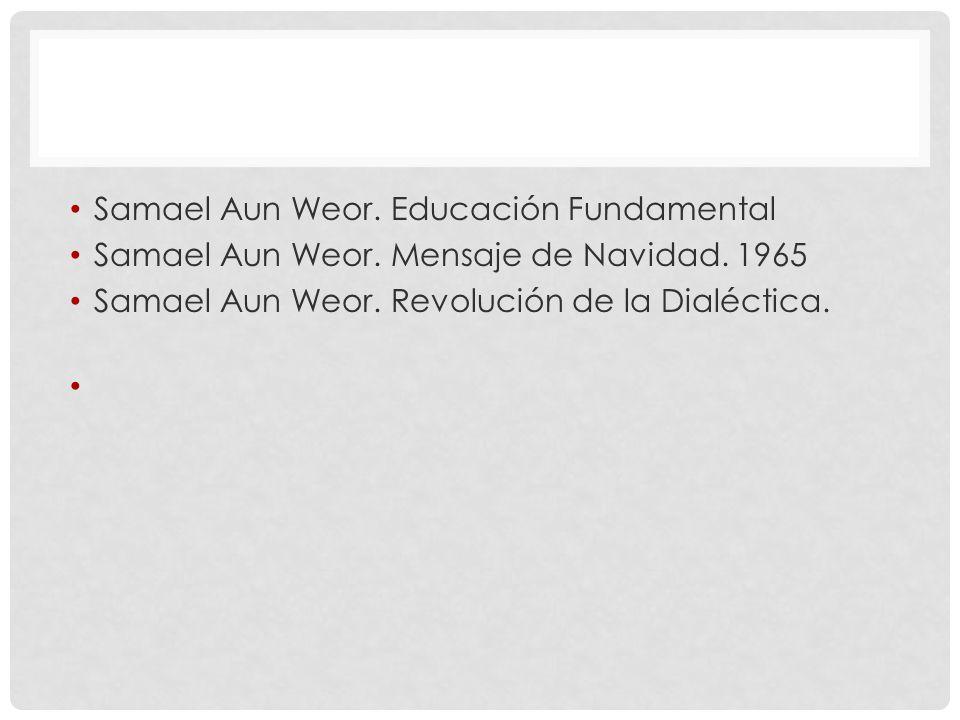 Samael Aun Weor. Educación Fundamental