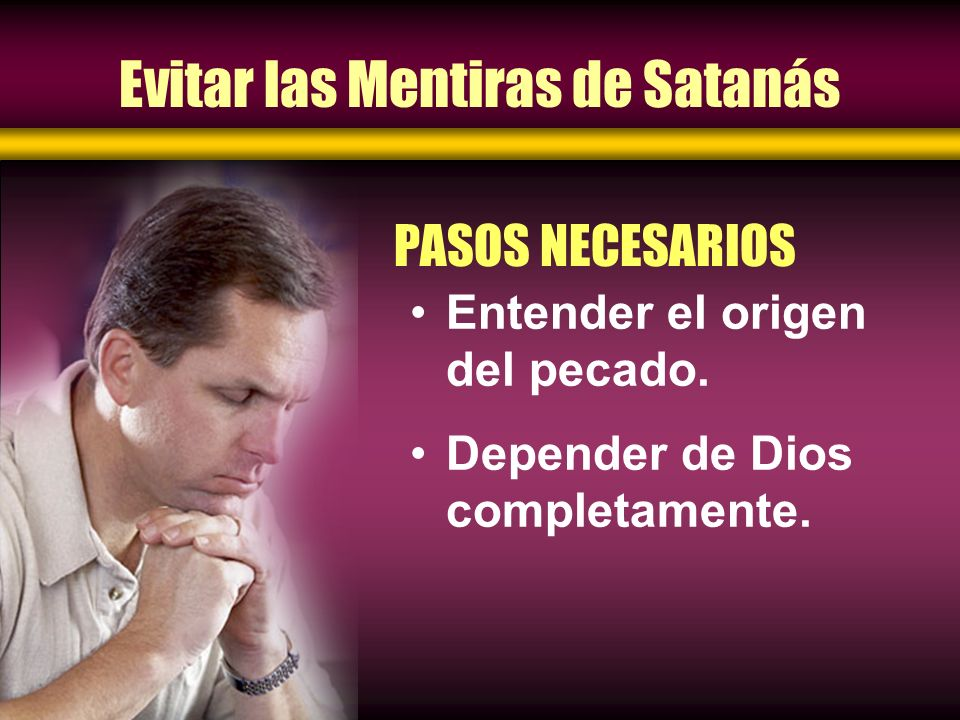 Evitar las Mentiras de Satanás