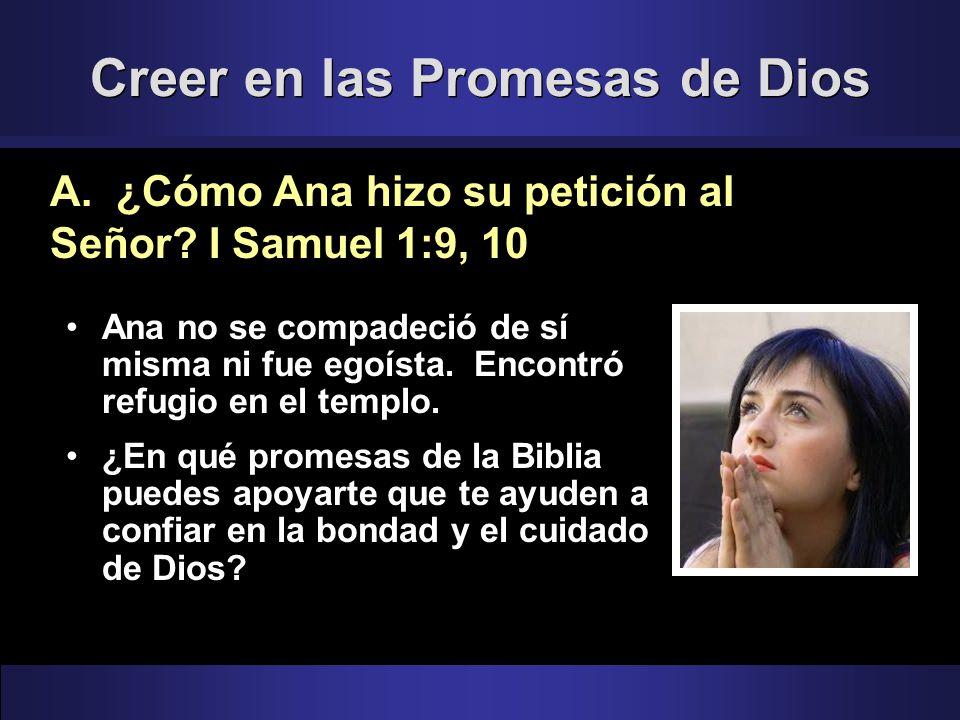 Creer en las Promesas de Dios