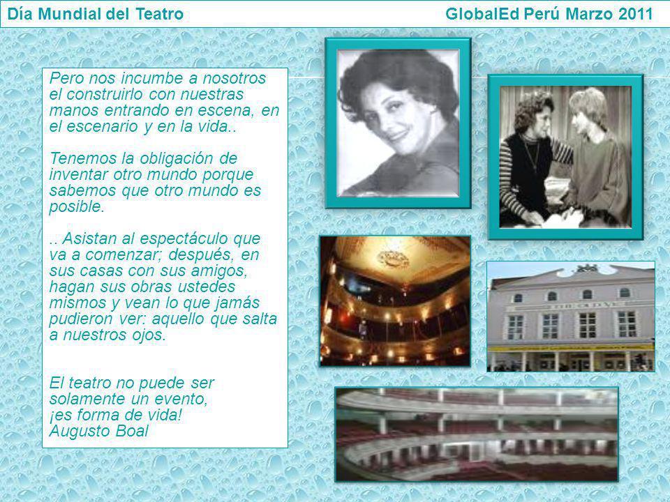 Día Mundial del Teatro GlobalEd Perú Marzo 2011
