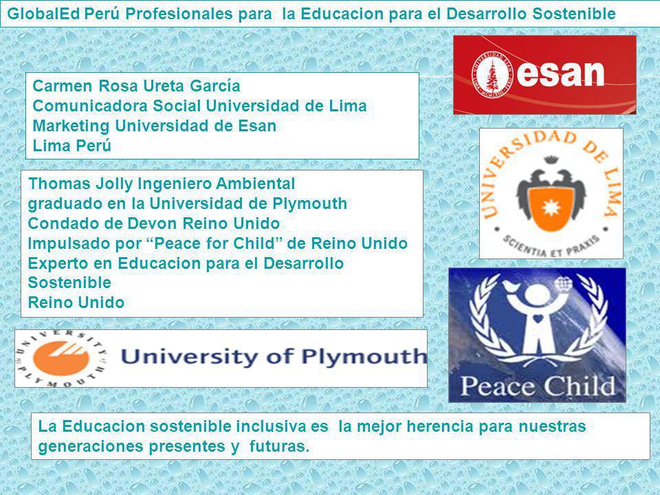 GlobalEd Perú Profesionales para la Educacion para el Desarrollo Sostenible