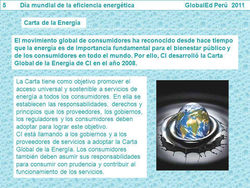 5 Día mundial de la eficiencia energética GlobalEd Perú 2011