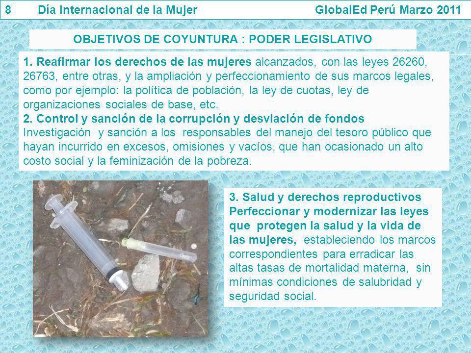 OBJETIVOS DE COYUNTURA : PODER LEGISLATIVO