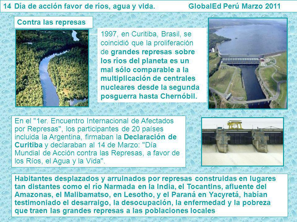 Día de acción favor de ríos, agua y vida. GlobalEd Perú Marzo 2011
