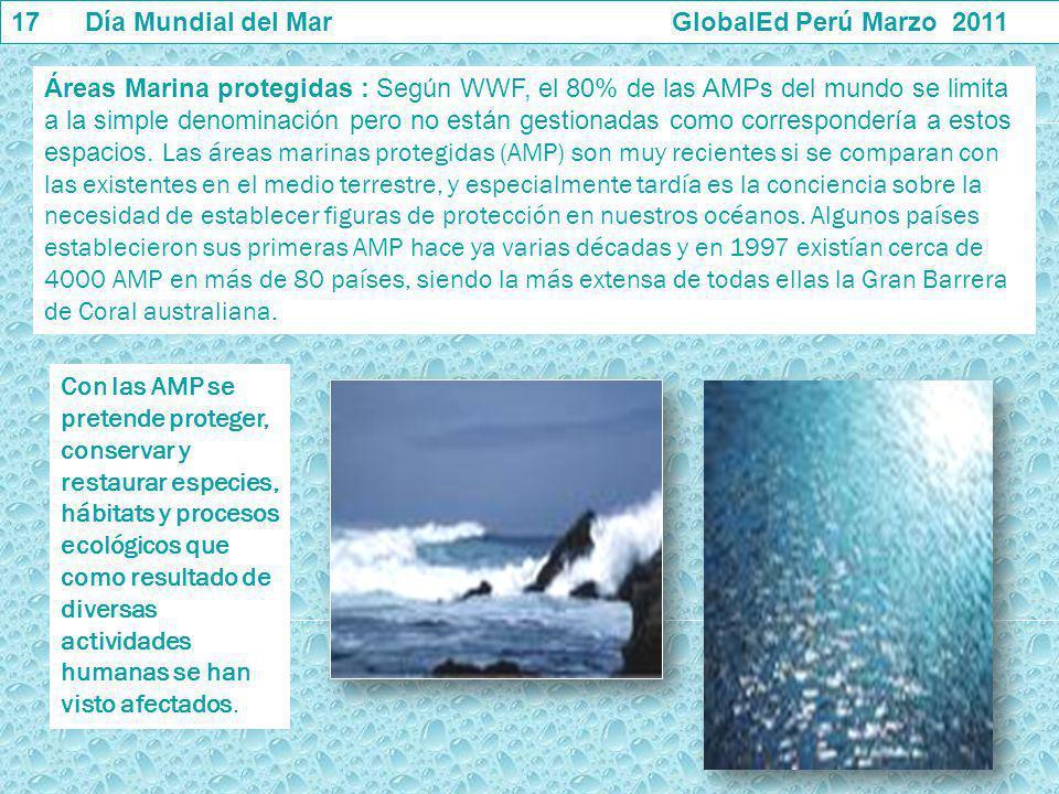 17 Día Mundial del Mar GlobalEd Perú Marzo 2011