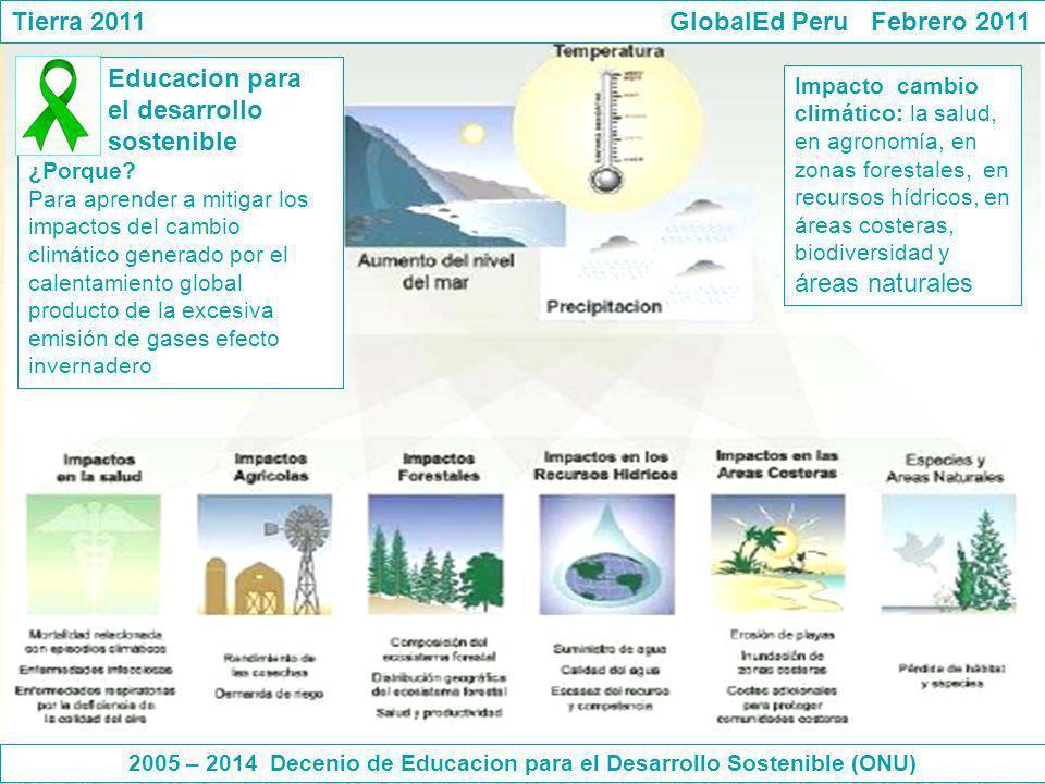 2005 – 2014 Decenio de Educacion para el Desarrollo Sostenible (ONU)