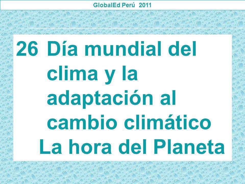 Día mundial del clima y la adaptación al cambio climático
