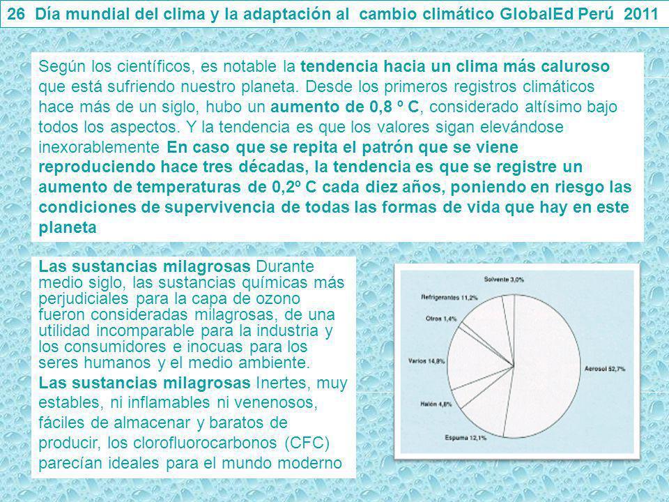 26 Día mundial del clima y la adaptación al cambio climático GlobalEd Perú 2011