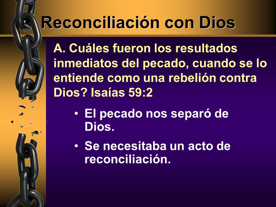 Reconciliación con Dios