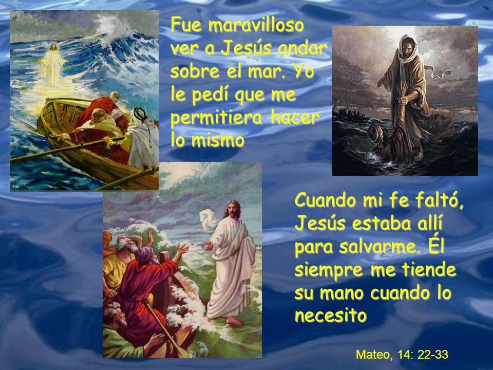 Fue maravilloso ver a Jesús andar sobre el mar