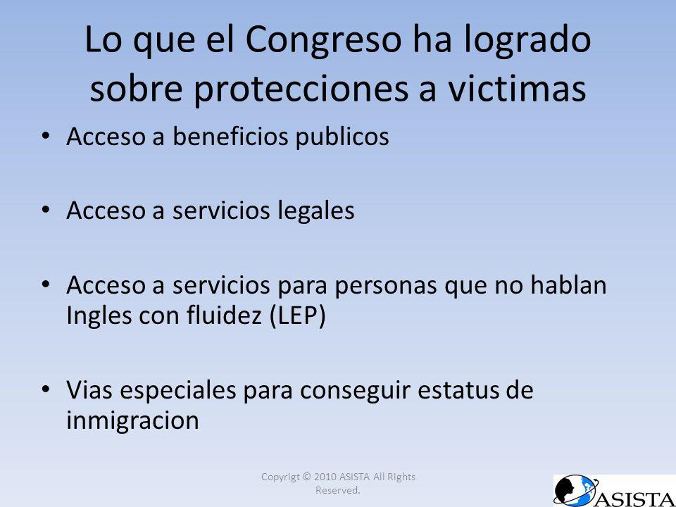 Lo que el Congreso ha logrado sobre protecciones a victimas