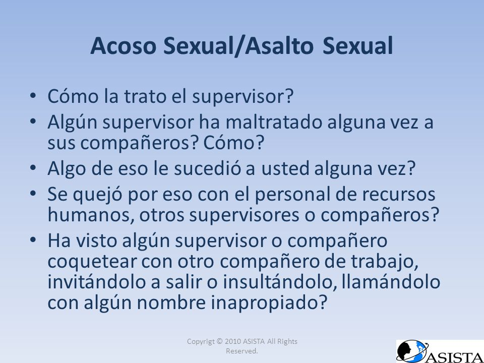 Acoso Sexual/Asalto Sexual