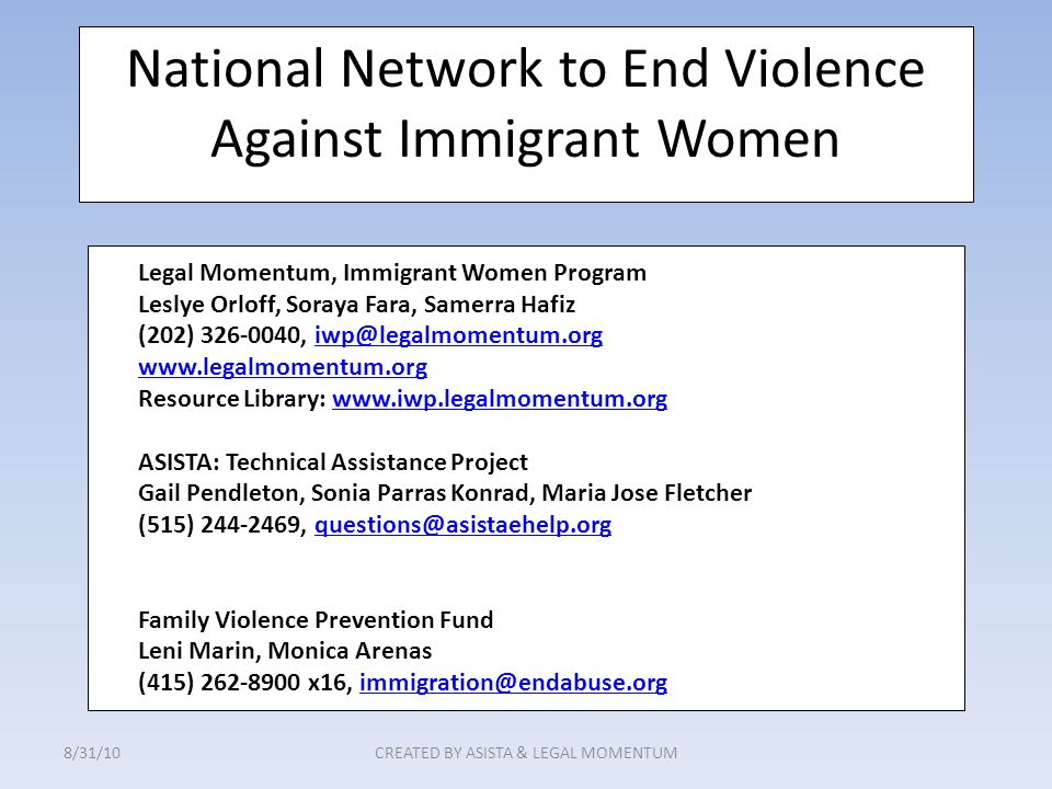 National Network to End Violence Against Immigrant Women