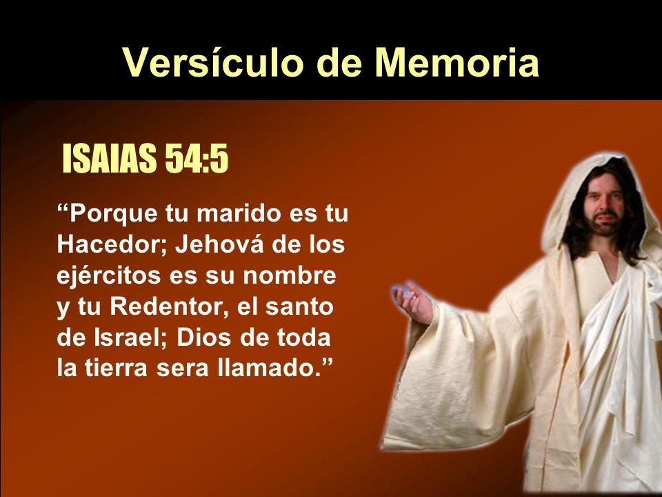 Versículo de Memoria ISAIAS 54:5