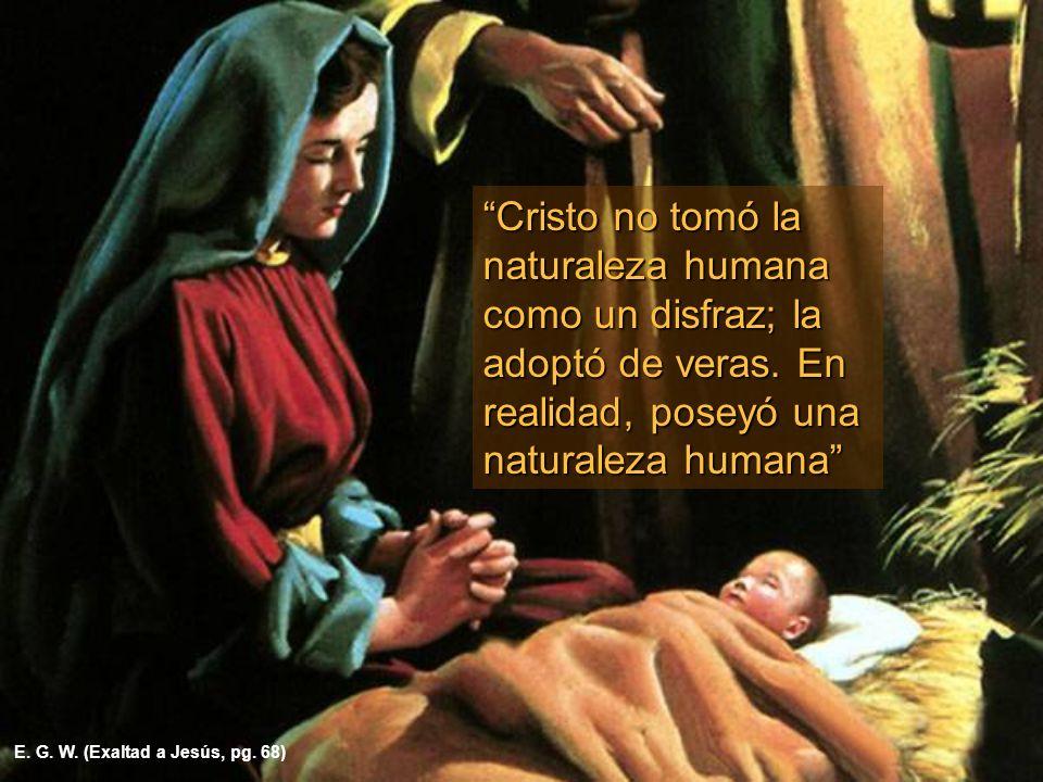 Cristo no tomó la naturaleza humana como un disfraz; la adoptó de veras. En realidad, poseyó una naturaleza humana