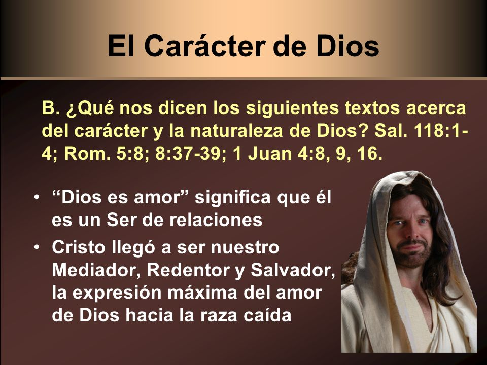 El Carácter de Dios