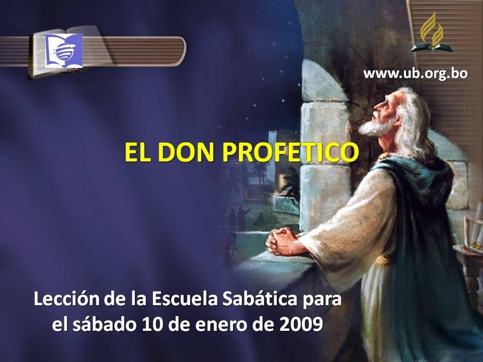 Lección de la Escuela Sabática para el sábado 10 de enero de 2009