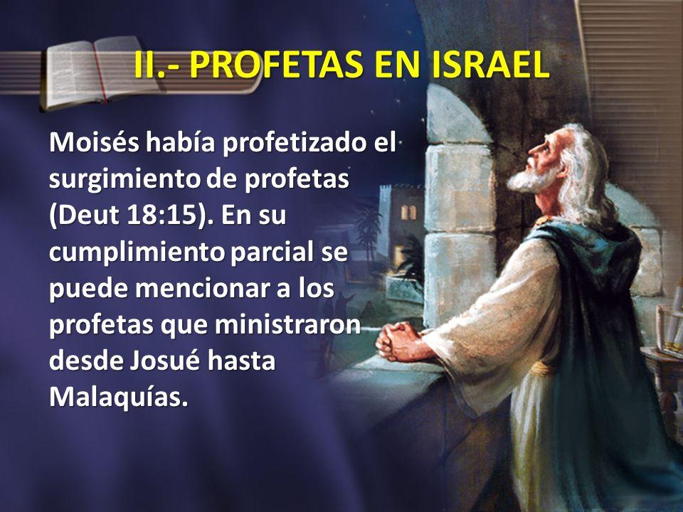 II.- PROFETAS EN ISRAEL
