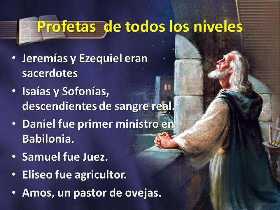 Profetas de todos los niveles