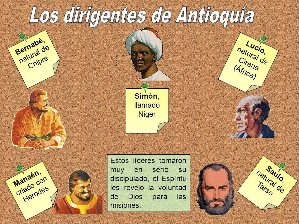 Los dirigentes de Antioquía